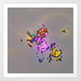 Cosmic Crumbs Art Print