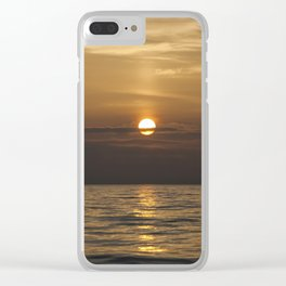 Sunrise over the ocean Clear iPhone Case