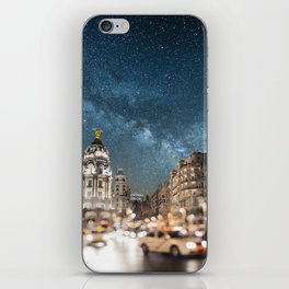 Madrid at night iPhone Skin