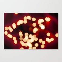 Christmas lights bokeh Canvas Print