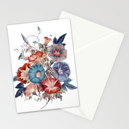Morning Glories Flower Bouquet Stationery Cards