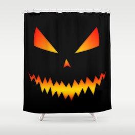 Cool scary Jack O'Lantern Halloween Shower Curtain