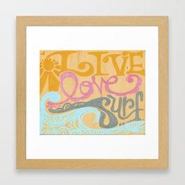 Live Love Surf by Lauren Tannehill Art Framed Art Print