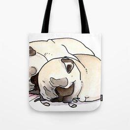 Snuggle Pugs Tote Bag
