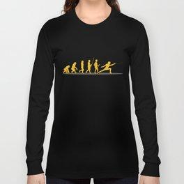 Swordsmanship Swordsman Training Fencing Evolution Sword Gift Long Sleeve T-shirt