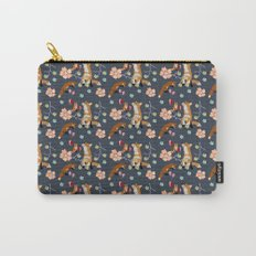 Fox and flowers Carry-All Pouch