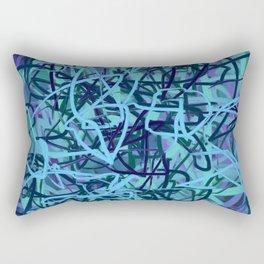 Blue & Jade Energy Mass Abstract Rectangular Pillow