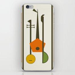 Mid-Century Modern Art Musical Strings iPhone Skin