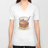 pigs V-neck T-shirts featuring Pickle Pigs Too by Megs stuff