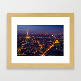 Eiffel Tower and Les Invalides in Paris Framed Art Print