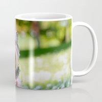 yorkie Mugs featuring Darling Yorkie by IowaShots