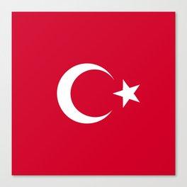 Turkey flag emblem Canvas Print