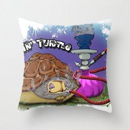 Tokin' Turtle Throw Pillow