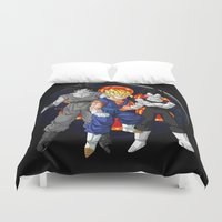 dbz Duvet Covers featuring DBZ - Mighty Fusion by Mr. Stonebanks