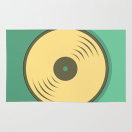Vinyl records icon illustration Rug