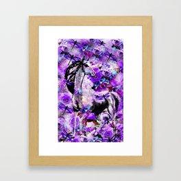 HORSE ROSES DRAGONFLY IMPRESSIONS Framed Art Print