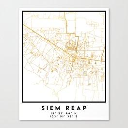 SIEM REAP CAMBODIA CITY STREET MAP ART Canvas Print