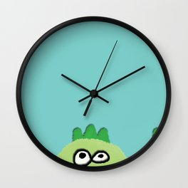 three little dinoes Wall Clock
