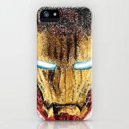 Iron Man Pointillism iPhone Case