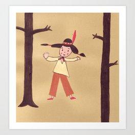 Dancing indian  Art Print