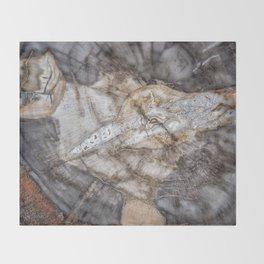 Petrified wood 3266 Throw Blanket