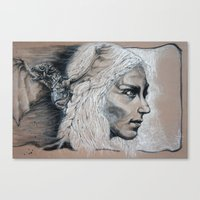 mother of dragons Canvas Prints featuring Mother by Clayton Young