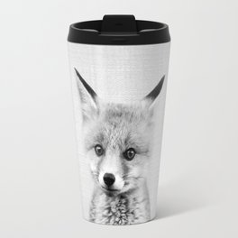 Baby Fox - Black & White Travel Mug