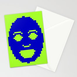 Pixel Face Stationery Cards