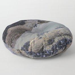 Rock Pool Amongst Mussel Beds Floor Pillow
