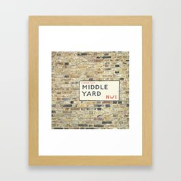 Middle Yard - London Framed Art Print