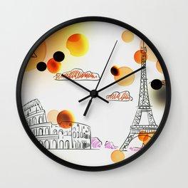 Sketch travel Wall Clock
