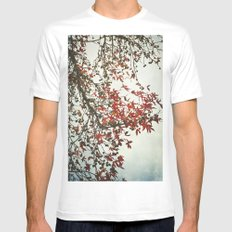 Scarlet Autumn MEDIUM Mens Fitted Tee White
