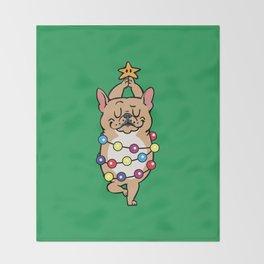 French Bulldog Merry Christmas Throw Blanket
