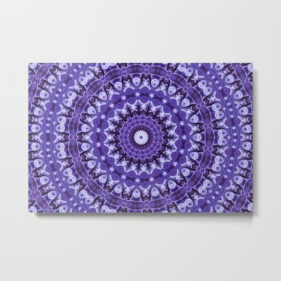 Kaleidoscope Purple Silk Metal Print