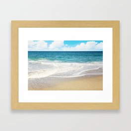 beach vibes Framed Art Print