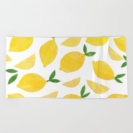 Lemon Cut Out Pattern Beach Towel
