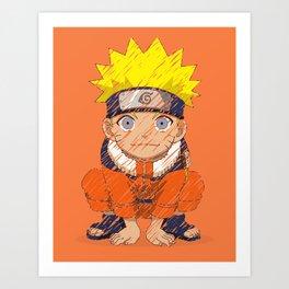 Naruto-chan Art Print