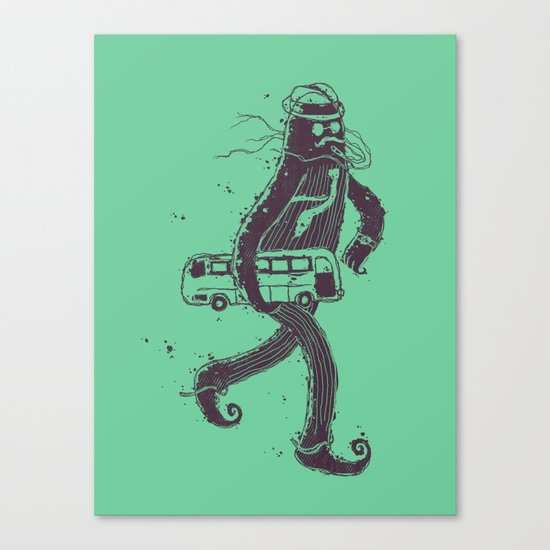 I Hate Taking The Bus To Work Canvas Print