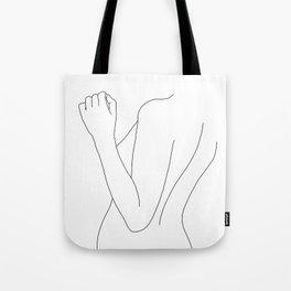 Nude figure line drawing illustration - Fina Tote Bag