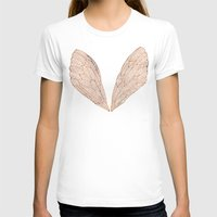 rose T-shirts featuring Cicada Wings in Rose Gold by Cat Coquillette
