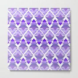 Purple Geometric Forest Metal Print