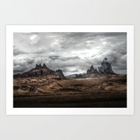 middle earth Art Prints featuring Middle Earth by Kent Moody