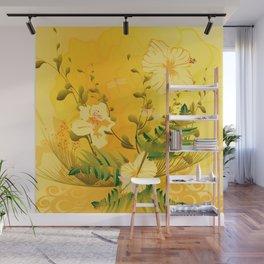 Wonderful soft yellow flowers Wall Mural