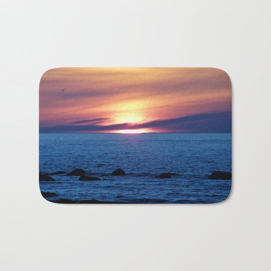Sunset over Blue Waters Bath Mat