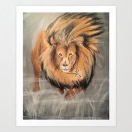 Roaring Like A Lion Art Print