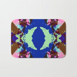 Abstract Pink & Funky Ink Blot Rorschach Butterfly Bath Mat