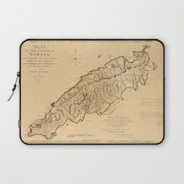 Map Of Tobago 1776 Laptop Sleeve