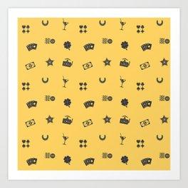 Gambling Symbols Art Print