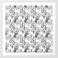 Jamaican Botanicals - Black & White Art Print