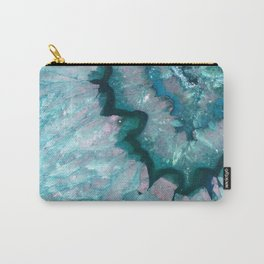 Teal Crystal Carry-All Pouch